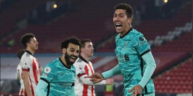 ليفربول يفوز على شيفيلد يونايتد بثنائية في الدوري الإنكليزي