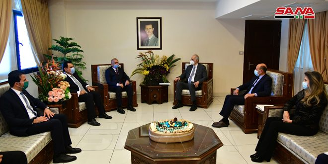 الجعفري لوفد عراقي: العلاقات بين البلدين متجذرة والتكامل بينهما مصيري