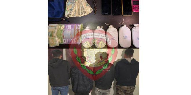 القبض على ثلاثة مروجي مخدرات بين البزورية والدويلعة في دمشق