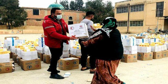 توزيع أكثر من 26 ألف سلة غذائية للأسر المحتاجة في الحسكة