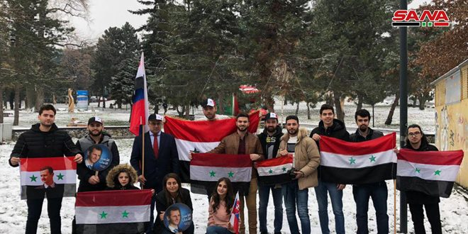 الطلبة السوريون في سلوفاكيا بذكرى 8 آذار يجددون وقوفهم إلى جانب وطنهم