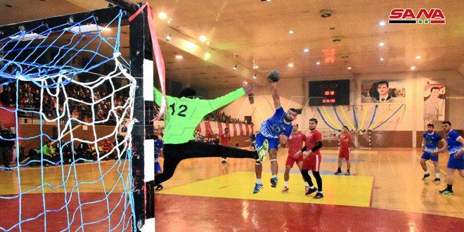 فوز الطليعة على النواعير في قمة مباريات التجمع النهائي لدوري كرة اليد