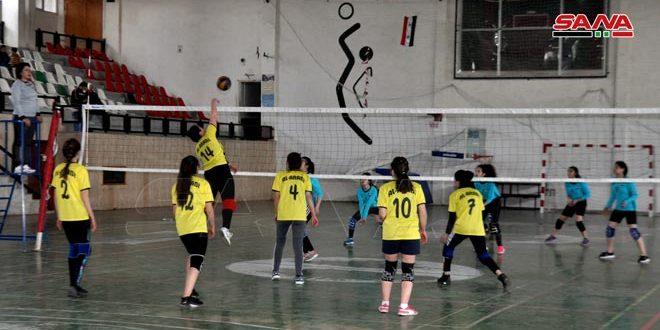 العربي يتغلب على دير علي في دوري كرة الطائرة للسيدات