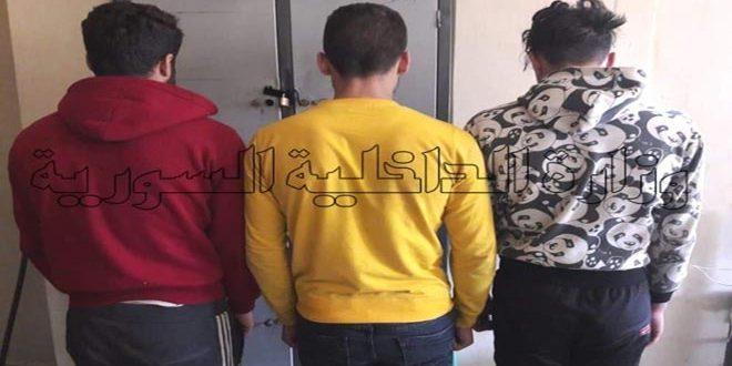 القبض على سارقي الأكبال الكهربائية والهاتفية في قرية بسيرين بحماة