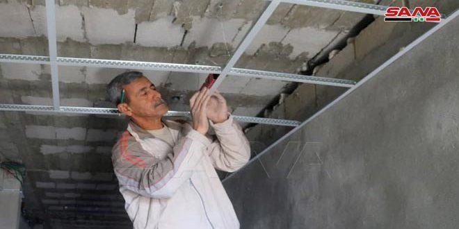 المباشرة بأعمال تجهيز سكن الأطباء في مشفى الأسد بدير الزور
