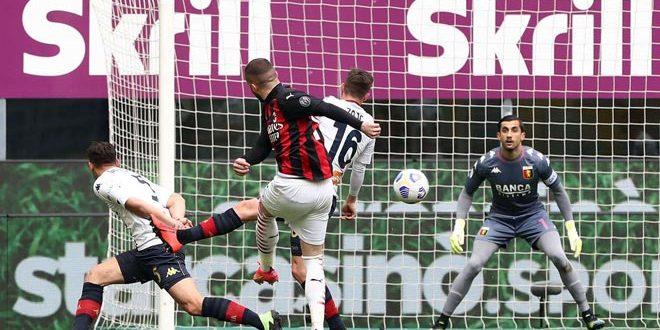 ميلان يفوز على جنوى في الدوري الإيطالي