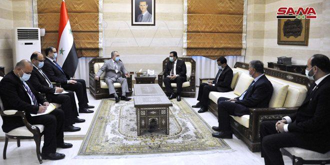 المهندس عرنوس يبحث مع سفير جمهورية باكستان سبل تعزيز العلاقات الثنائية ودفعها إلى الأمام
