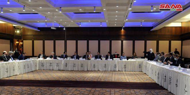 منتدى افتراضي لبحث تطوير التعاون بين رجال الأعمال السوريين والروس