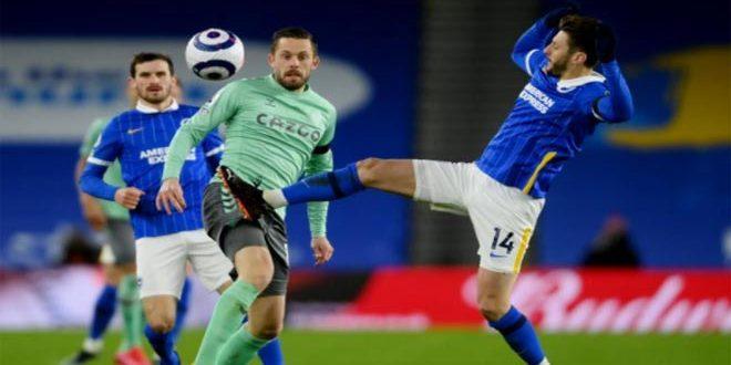 إيفرتون يتعادل مع برايتون في الدوري الإنكليزي لكرة القدم