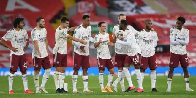 آرسنال يفوز على وست بروميتش ألبيون بثلاثية في الدوري الإنكليزي لكرة القدم