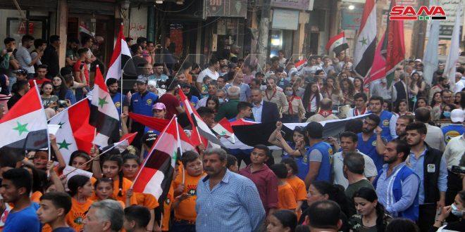 دعماً للاستحقاق الرئاسي.. فعاليات شعبية في دمشق وريفها: السوريون سيختارون من يحمل أمانة الدفاع عن سورية وأبنائها