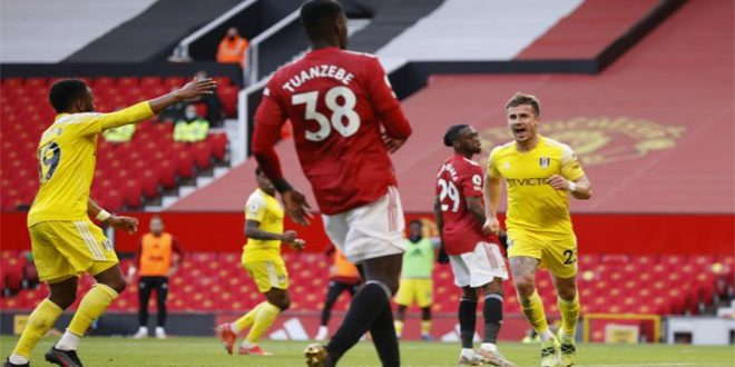 تعادل مانشستر يونايتد مع فولهام في الدوري الإنكليزي الممتاز