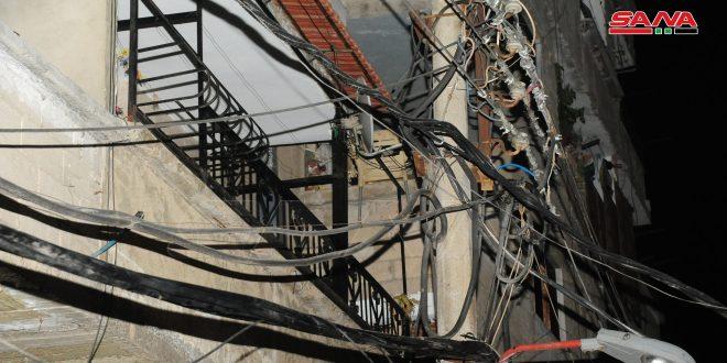 إخماد حريق بكابل كهرباء في منطقة المزة