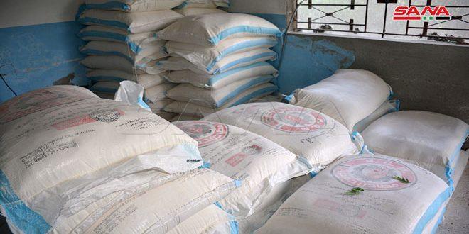 ضبط مستودع بريف القرداحة يحوي أكثر من 11 طن دقيق بغرض الاتجار بها