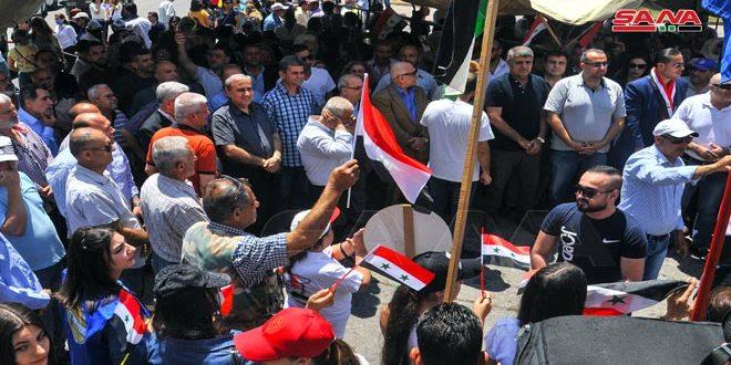 تجمعات شعبية داعمة للاستحقاق الرئاسي بحمص واللاذقية: المشاركة أمانة في أعناقنا من أجل مستقبل سورية