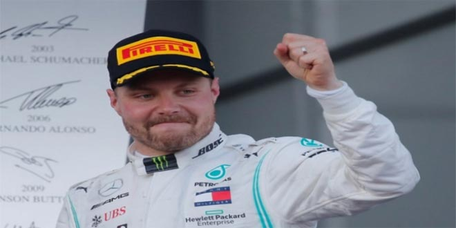 بوتاس الأسرع في التجارب الحرة الأولى من سباق جائزة إسبانيا الكبرى