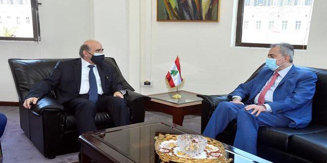 وزير خارجية لبنان يبحث مع السفير عبد الكريم العلاقات الثنائية
