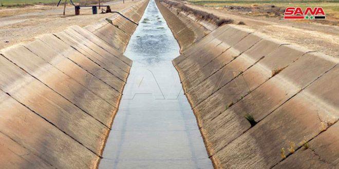 وضع مشروع خط مياه شنان بريف الرقة الشرقي في الخدمة
