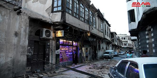 انهيار جزئي بمنزل مهجور بدمشق القديمة خلف أضراراً مادية