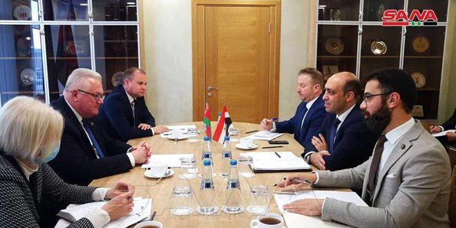 سورية وبيلاروس تبحثان تعزيز التعاون في مجال التعليم العالي