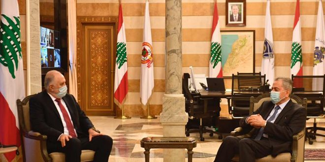 وزير الداخلية اللبناني والسفير عبد الكريم يبحثان التنسيق لاستقبال السوريين الراغبين بالمشاركة في الانتخابات الرئاسية