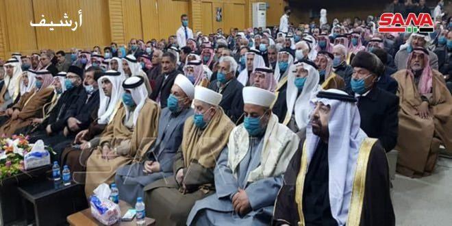العشائر العربية تندد بممارسات الاحتلالين التركي والأمريكي… وتؤكد المشاركة الفاعلة في الانتخابات الرئاسية