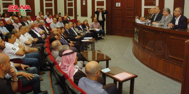 الوزير البرازي لفعاليات تجارية بالسويداء: أهمية تعاون الجميع في ضبط الأسواق والأسعار