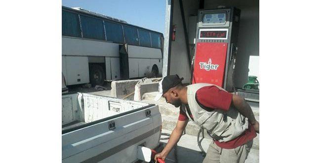 محطة بنزين أوكتان 95 متنقلة في النبك لتخديم المسافرين
