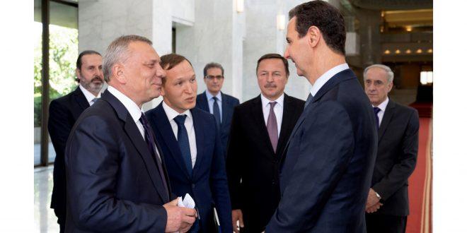 الرئيس الأسد يستقبل نائب رئيس الوزراء الروسي.. توسيع التعاون الاقتصادي في مجالات الصناعة والطاقة والتقنيات الحديثة