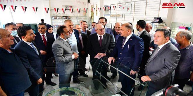 وزير الصناعة العراقي خلال زيارته مدينة عدرا الصناعية: الاستفادة من التقدم الذي أحرزته الصناعة السورية