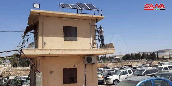 تزويد مركز حجز المركبات في حماة بخلايا طاقة شمسية وكاميرات مراقبة