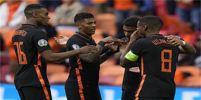 هولندا تفوز على مقدونيا الشمالية في بطولة أمم أوروبا 2020