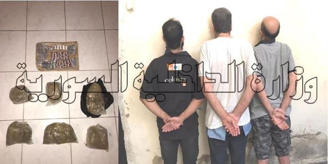 القبض على شبكة لنقل وترويج المخدرات بين دمشق وريفها
