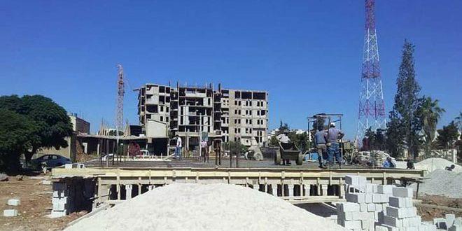 بتكلفة 480 مليون ليرة… تنفيذ ثلاثة مشاريع خدمية لفرع الشركة العامة للبناء والتعمير في درعا