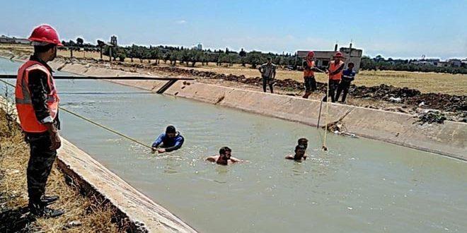 غرق طفل في ساقية للري بمنطقة الهلالية شمالي حمص
