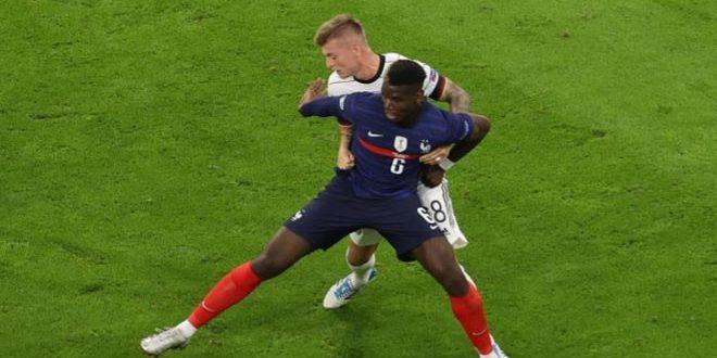 بوغبا يتوج بجائزة أفضل لاعب في مباراة منتخب فرنسا ضد ألمانيا في يورو 2020