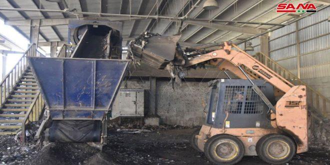 إقبال واسع من الفلاحين على شراء السماد العضوي من معمل معالجة النفايات الصلبة بطرطوس