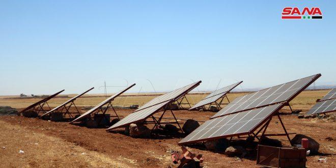 وسط إجراءات ميسرة من المصارف.. استخدام الطاقة الشمسية في بعض المشاريع الزراعية بدرعا