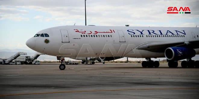 السورية للطيران تستأنف رحلاتها إلى أبو ظبي الأربعاء المقبل