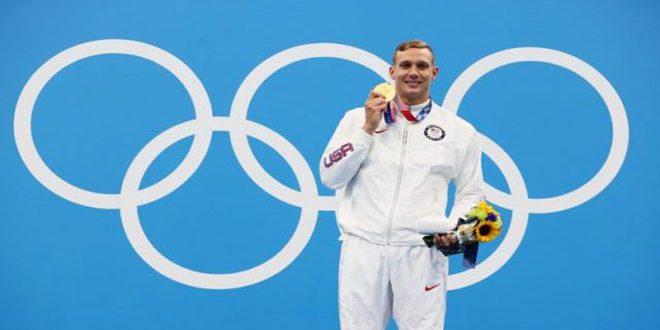 السباح الأميركي دريسيل يتوج بذهبية 100 متر حرة بأولمبياد طوكيو 2020