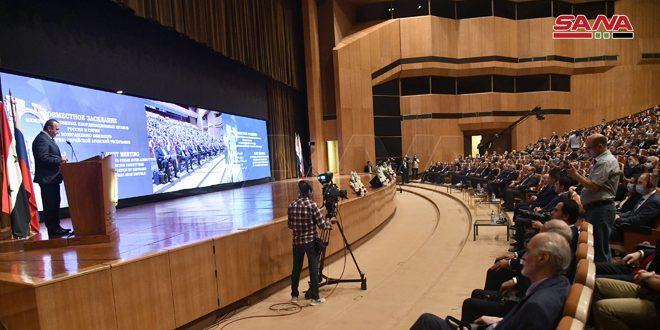 اجتماع سوري روسي لمتابعة أعمال المؤتمر الدولي حول عودة اللاجئين والمهجرين السوريين… مخلوف: عودة خمسة ملايين مهجر