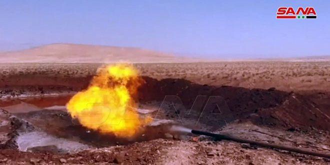 وزارة النفط تضع بئر دير عطية 5 الغازية بالخدمة
