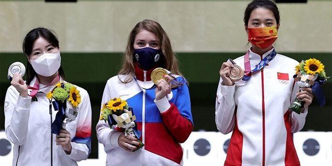 الروسية باتساراشكينا تحرز ميدالية ذهبية ثانية في أولمبياد طوكيو
