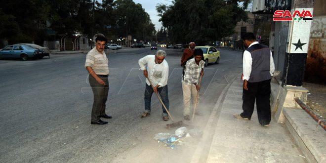 يوم نظافة تطوعي في شوارع وساحات مدينة الحسكة