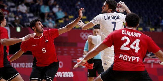 منتخب مصر لكرة اليد يخسر أمام فرنسا ويلعب على برونزية أولمبياد طوكيو