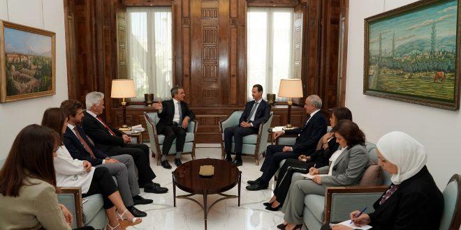 الرئيس الأسد يستقبل تيري مارياني عضو البرلمان الأوروبي والوفد المرافق