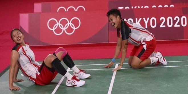 ذهبية لإندونيسيا بزوجي السيدات في منافسات الريشة الطائرة بأولمبياد طوكيو