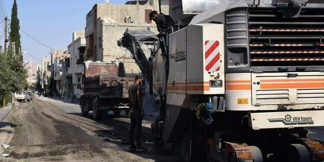 مشاريع تزفيت وتأهيل شوارع في النبك والديماس بريف دمشق