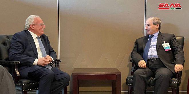 المقداد يبحث مع وزراء خارجية فلسطين وأرمينيا ونيكاراغوا وتونس تعزيز وتنسيق العلاقات الثنائية