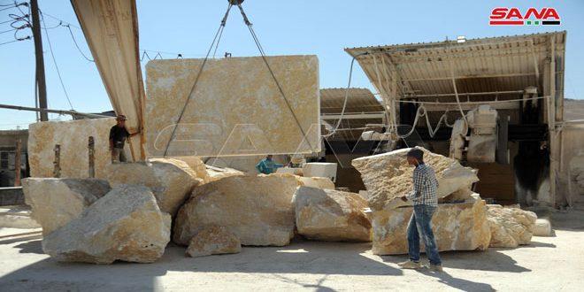 الحجر الرحيباني جودة وصلابة ولون… والحرفيون يطلبون الدعم
